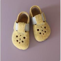 Gyerek barefoot papucs Pegres BF04 - sárga