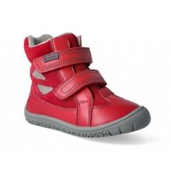 Gyerek téli barefoot cipő Protetika Elis Red