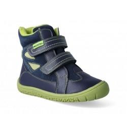 Gyerek téli barefoot cipő Protetika Elis Navy