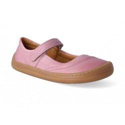Gyerek barefoot balerína cipő Froddo - pink